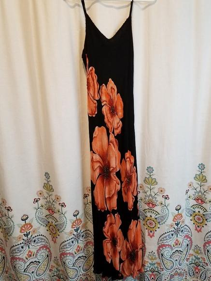 Dress Barn Dresses & Skirts - Floral maxi dress beaded